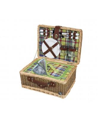Cos de picnic pentru 2 persoane, salcie impletita, model Melano - CILIO