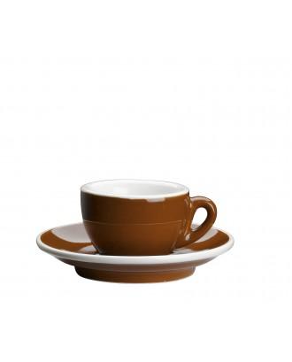 Ceasca si farfurie de espresso, maro, 50 ml, colectia Roma - CILIO