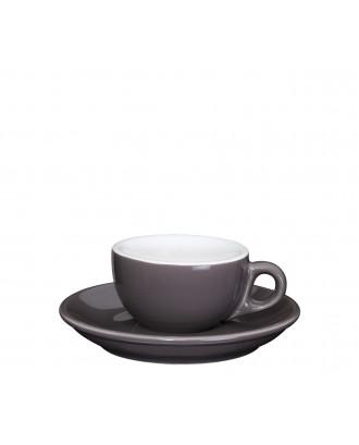 Ceasca si farfurie de espresso, macchiato, 50 ml, colectia Roma - CILIO