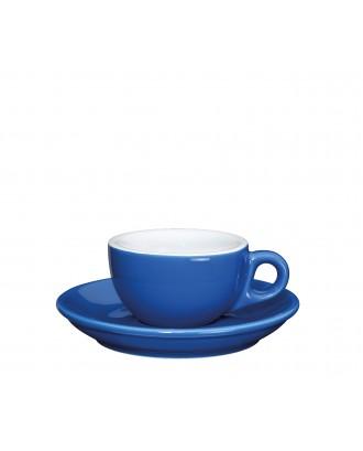 Ceasca si farfurie de espresso, bleumarin, 50 ml, colectia Roma - CILIO