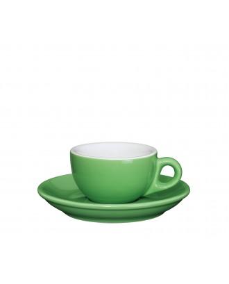 Ceasca si farfurie de espresso, verde, 50 ml, colectia Roma - CILIO