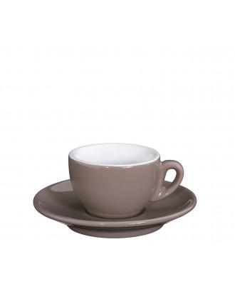 Ceasca si farfurie de espresso, gri deschis, 50 ml, colectia Roma - CILIO
