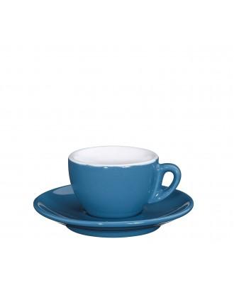 Ceasca si farfurie de espresso, albastru, 50 ml, colectia Roma - CILIO