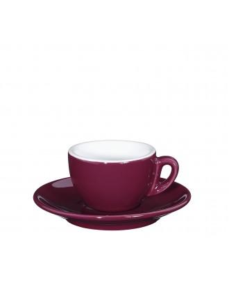 Ceasca si farfurie de espresso, mov, 50 ml, colectia Roma - CILIO