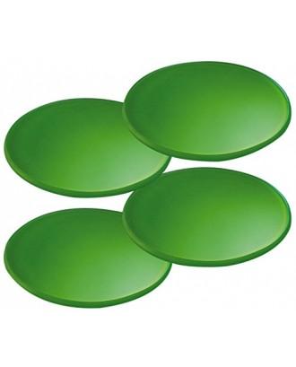 Cilio Set 4 suporturi pahare, verde