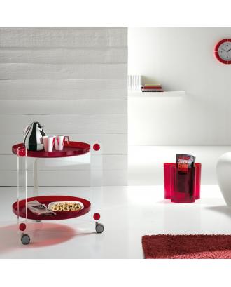 Carucior rosu, designer Luigi Massoni - Guzzini