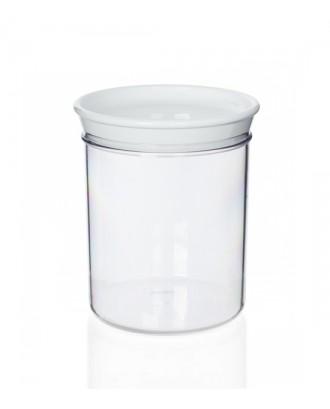 Borcan cu capac alb, 1000 ml, colectia Forme Casa - GUZZINI