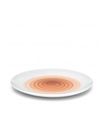 Farfurie pentru cina, pictata manual cu model coral, colectia Holly - GUZZINI