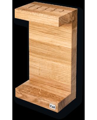Bloc pentru cutite, tip C, lemn de stejar - KAI