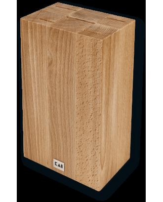 Bloc cubic pentru cutite, lemn de fag - KAI