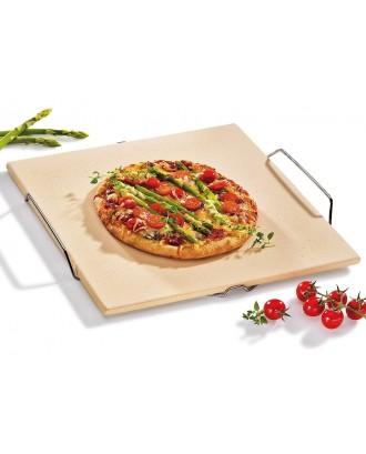 Blat patrat din piatra pentru pizza, 38 x 35 cm - KUCHENPROFI