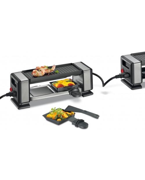 Gratar electric cu 2 raclette, negru, model Vista 2 Plus - KUCHENPROFI