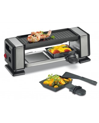 Gratar electric cu 2 raclette, negru, model Vista 2 Plus - KUCHENPROFI