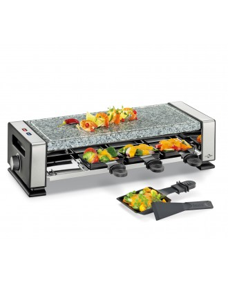 Plita electrica cu piatra fierbinte si 8 raclette, model Vista 8 - KUCHENPROFI