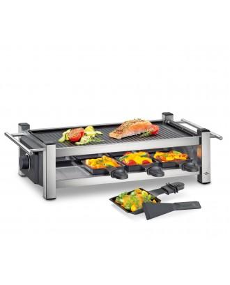 Gratar electric cu 8 raclette, negru, model Taste8 - KUCHENPROFI