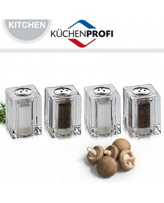 Set 4 mini recipiente sare/piper - KUCHENPROFI