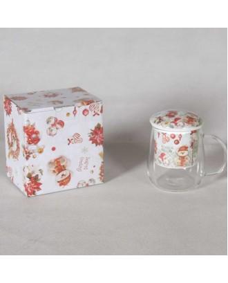 Cana de ceai cu infuzor,  350 ml, Teddy Bear - SIMONA'S COOKSHOP