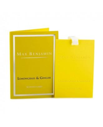Card parfumat, Lemongrass Ginger - MAX BENJAMIN