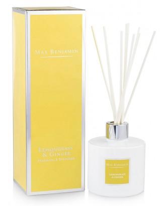 Esenta parfumata cu betisoare, 100 ml, Lemongrass Ginger - MAX BENJAMIN