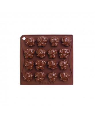 Forma ciocolata, modele elefanti, silicon platinic - PAVONI