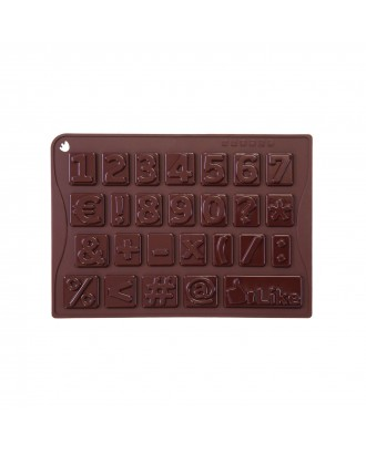 Forma ciocolata, modele cifre si simboluri, silicon platinic - PAVONI