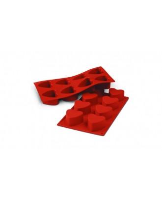 Forma prajituri, model inima, Terracotta - Silikomart