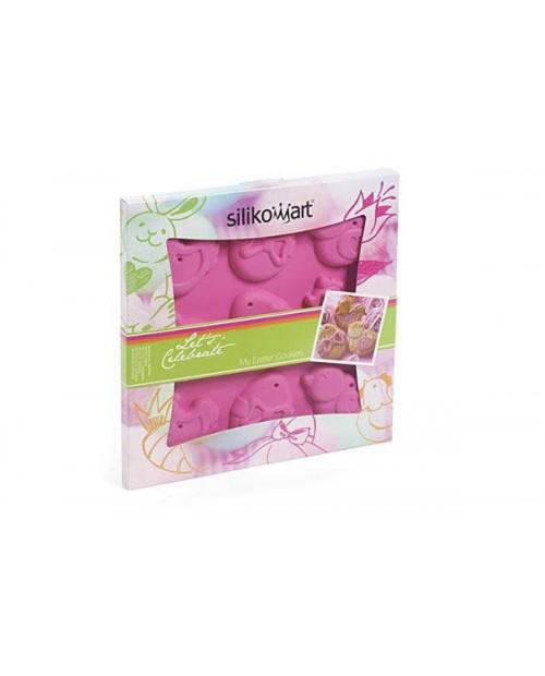 Forma prajituri My Easter Cookies, roz - SILIKOMART