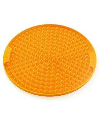 Tava rotunda neaderenta din silicon, portocalie - SILIKOMART