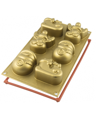 Forma din silicon pentru prajituri Funny Christmas - SILIKOMART