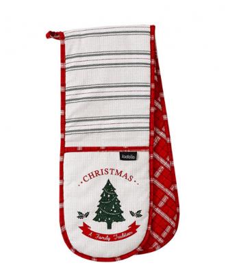 Manusa dubla de bucatarie Christmas, bumbac, 17 x 86 cm - SIMONA'S COOKSHOP
