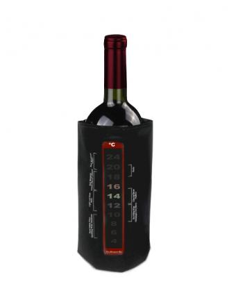 Husa pentru racirea sticlelor de vin, cu termometru si velcro - VIN BOUQUET
