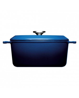Oala cu capac Iron, albastra, 4.2 litri - Woll