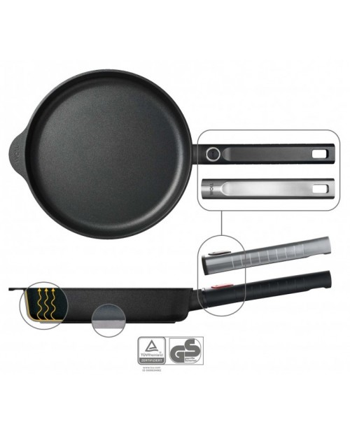 Tigaie wok cu capac, Diamond XR Pro Logic, 28cm - Woll