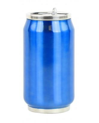 Cutie izoterma cu pai, 280ml, model bleu - YOKO
