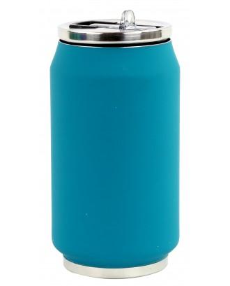 Cutie izoterma cu pai, 280ml, model bleu canard mat - YOKO