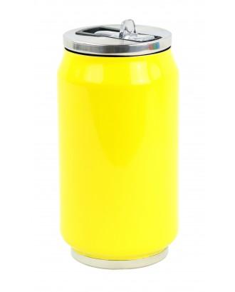 Cutie izoterma cu pai, 280ml, model lemon yellow - YOKO
