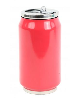 Cutie izoterma cu pai, 280ml, model rasperry pink - YOKO