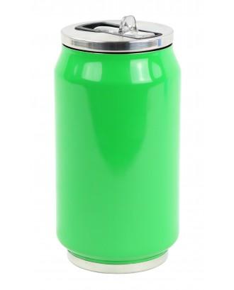 Cutie izoterma cu pai, 280ml, model green leaves - YOKO