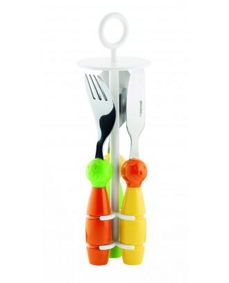 Set de 3 tacamuri pentru copii, diverse culori, colectia Bimbi - GUZZINI
