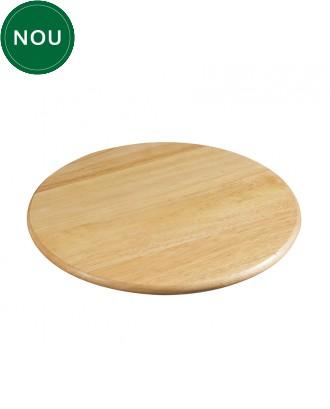 Platou rotativ din lemn de arbore de cauciuc, 35 cm - ZASSENHAUS