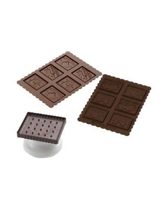 Stampila pentru biscuiti Gnam Gnam - SILIKOMART