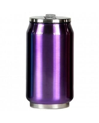 Cutie izoterma cu pai, 280ml, model violet - YOKO DESIGN