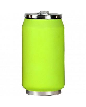 Cutie izoterma cu pai, 280ml, model verde aprins, mat - YOKO