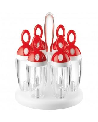 Guzzini Set rotativ 6 condimente - Rosu