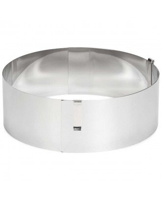 Inel rotund ajustabil pentru prajituri, 13-31 cm, inox - PATISSE
