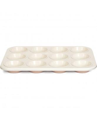 Forma pentru 12 briose, otel, 35 cm, colectia Ceramic - PATISSE