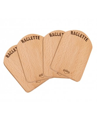 Set 4 suporturi din lemn pentru servire raclette, lemn de fag - KUCHENPROFI