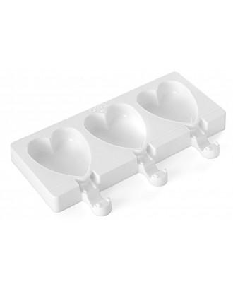Forma pentru inghetata cu inimioare, Easy Cream - SILIKOMART