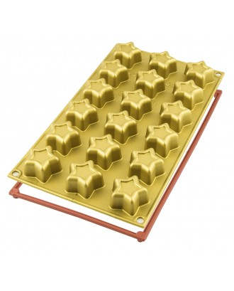 Forma din silicon pentru prajituri Mini Stars - SILIKOMART