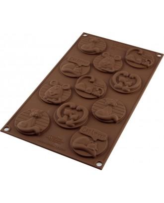 Forma ciocolata Kitty Tags - SILIKOMART